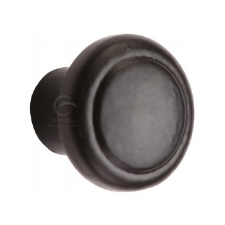 Heritage Cabinet Knob FB3990 32mm Black Iron Rustic