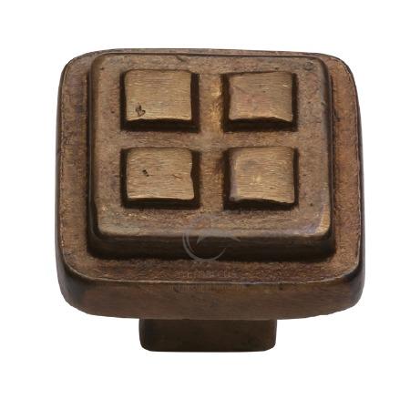 Heritage Cabinet Knob RBL3622 Solid Bronze Rustic