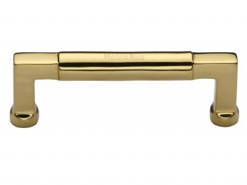 Heritage Cabinet Pull C0312 101mm Polished Brass