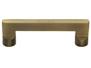 Heritage Cabinet Pull Handle C0345 96mm Antique Brass