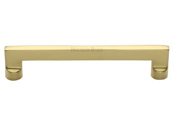 Heritage Cabinet Pull Handle C0345 152mm Polished Brass