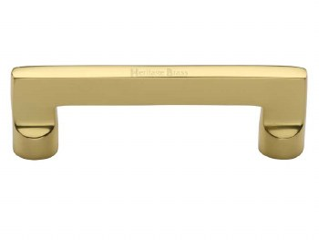Heritage Cabinet Pull Handle C0345 96mm Polished Brass