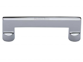 Heritage Cabinet Pull Handle C0345 96mm Polished Chrome