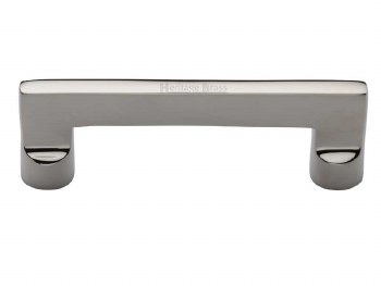 Heritage Cabinet Pull Handle C0345 96mm Polished Nickel
