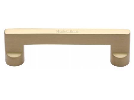 Heritage Cabinet Pull Handle C0345 96mm Satin Brass