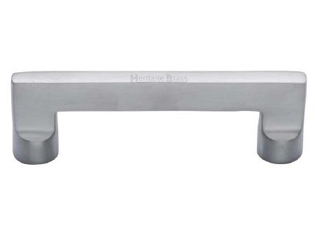 Heritage Cabinet Pull Handle C0345 96mm Satin Chrome