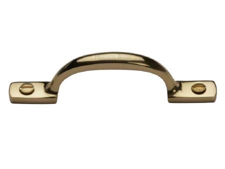 Heritage Cabinet Pull V1090 102mm Polished Brass