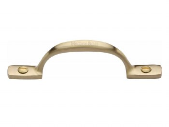 Heritage Cabinet Pull V1090 102mm Satin Brass