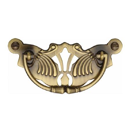 Heritage Decorative Cabinet Drop Handle V5021 Antique Brass