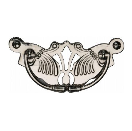 Heritage Decorative Cabinet Drop Handle V5021 Polished Nickel