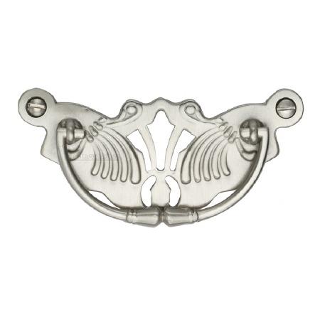 Heritage Decorative Cabinet Drop Handle V5021 Satin Nickel