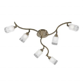 Kampani Ceiling 6 Spot Lights Bronze