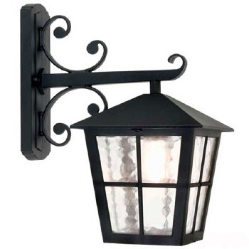 Elstead Canterbury Outdoor Wall Down Light Lantern Black