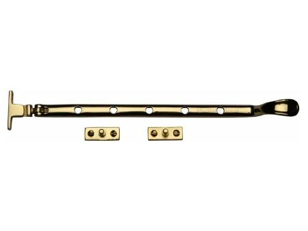 """Heritage Casement Stay 12""""  V990 Polished Brass"""