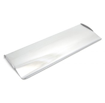 From The Anvil Period Letterplate Cover Large Satin Chrome