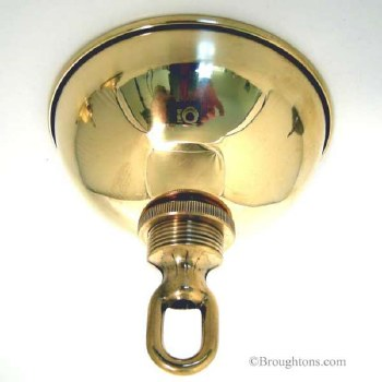 Ceiling Hook Plate 105mm Polished Brass