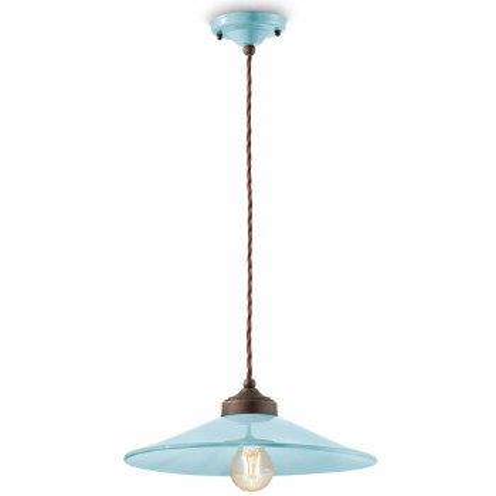 Italian Ceramic Pendant Ceiling Light C1631 Azzurro