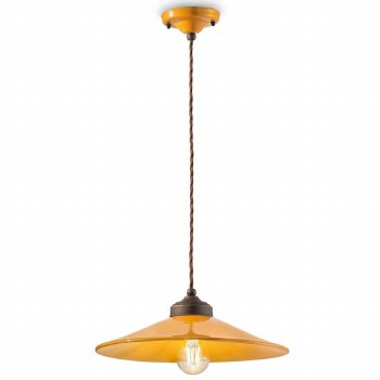 Italian Ceramic Pendant Ceiling Light C1631 Giallo