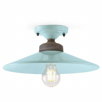 Italian Ceramic Semi Flush Ceiling Light C1633 Azzurro