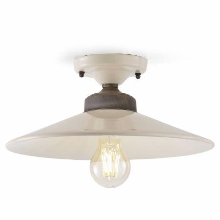Italian Ceramic Semi Flush Ceiling Light C1633 Crema