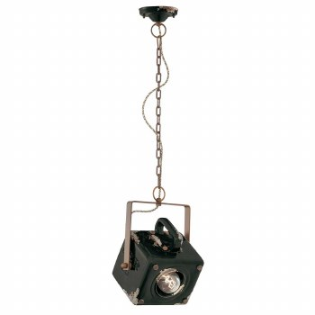 Italian Ceramic Pendant Ceiling Light C1652 Vintage Nero