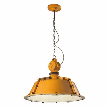 Italian Ceramic Ceiling Pendant Light C1720 Vintage Giallo