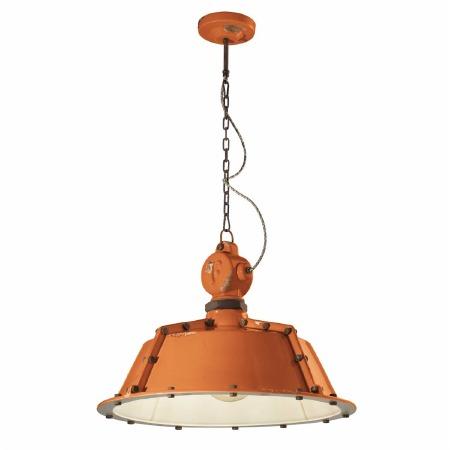 Italian Ceramic Ceiling Pendant Light C1720 Vintage Arancio