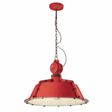 Italian Ceramic Ceiling Pendant Light C1720 Vintage Rosso
