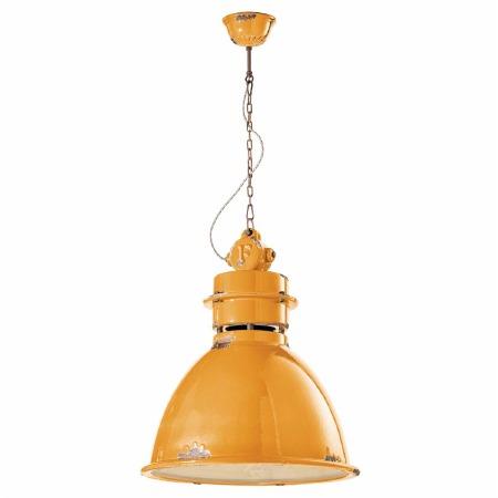 Italian Ceramic Ceiling Pendant Light C1750 Vintage Giallo