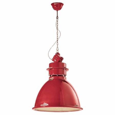 Italian Ceramic Ceiling Pendant Light C1750 Vintage Rosso