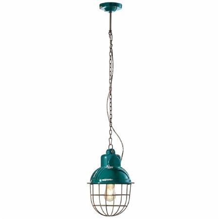 Italian Ceramic Pendant Ceiling Light C1770 Vintage Verde
