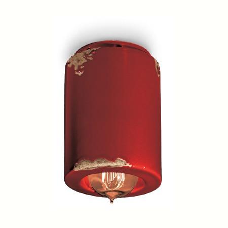 Italian Ceramic Ceiling Light C985 Vintage Bordeaux