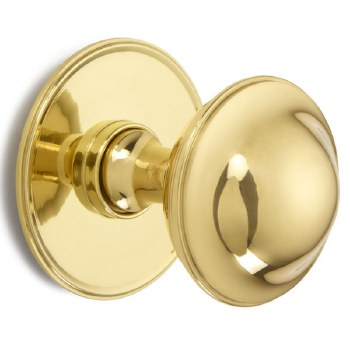 Croft Centre Door Knob 4175 Polished Brass Unlacquered