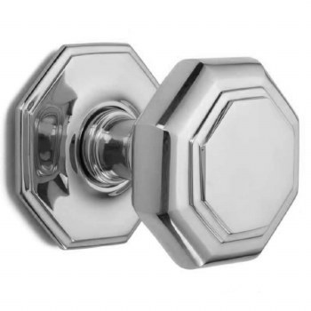 Croft Large Centre Door Knob 4185 Polished Chrome