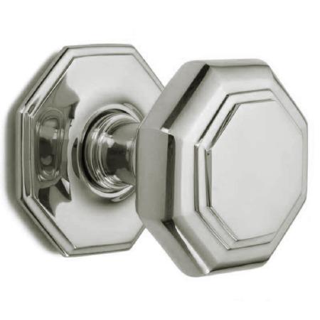 Croft Large Centre Door Knob 4185 Polished Nickel