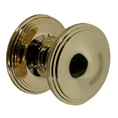"Victorian Constable 602-2 4"" Centre Door Knob Polished Brass Unl"