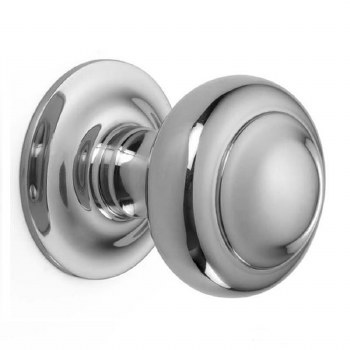 Croft Centre Door Knob 6344 Polished Chrome