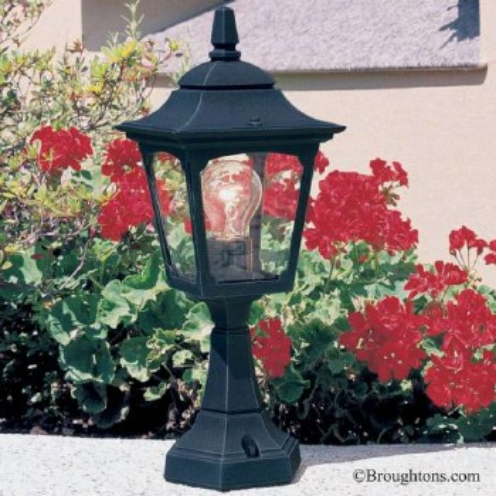 Elstead Chapel Mini Pedestal Lantern Light Black