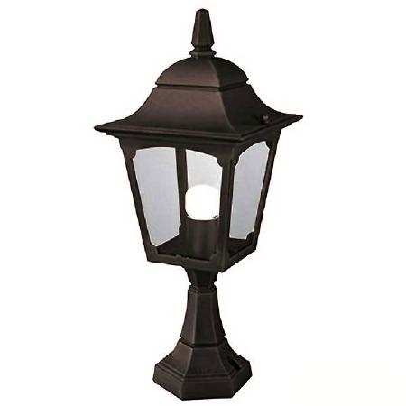 Elstead Chapel Pedestal Lantern Light Black