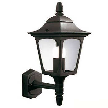Elstead Chapel Mini Outdoor Wall Uplight Lantern Black