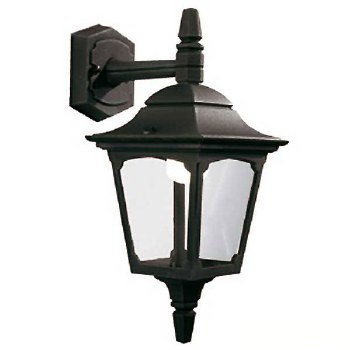 Elstead Chapel Mini Outdoor Wall Light Lantern Black