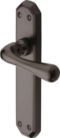 Heritage Charlbury Latch Door Handles V7060 Matt Bronze