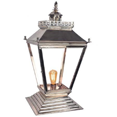 Chateau Medium Pedestal Lantern Polished Nickel