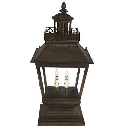 Chateau Large Pedestal Lantern Antique Brass