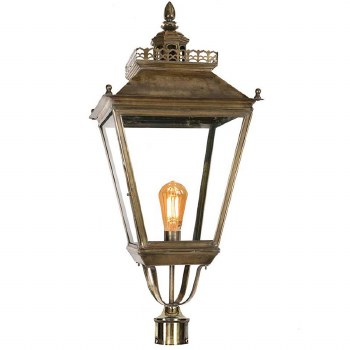 """Chateau Large Lamp Post Head for 3"""" dia. Light Antique Brass"""