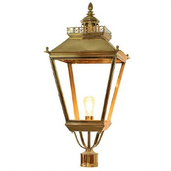 """Chateau Large Lamp Post Head for 3"""" dia. Polished Brass"""