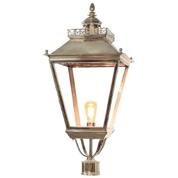 """Chateau Large Lamp Post Head for 3"""" dia. Polished Nickel"""