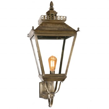 Chateau Large Outdoor Wall Lantern, Light Antique Brass
