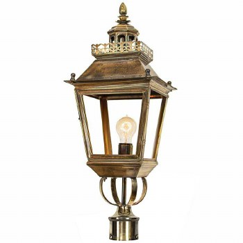 """Chateau Lamp Post Head for 2"""" dia. Light Antique Brass"""