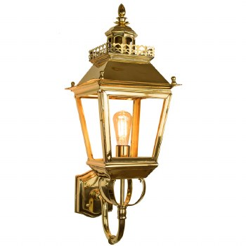 Chateau Outdoor Wall Lantern Polished Brass